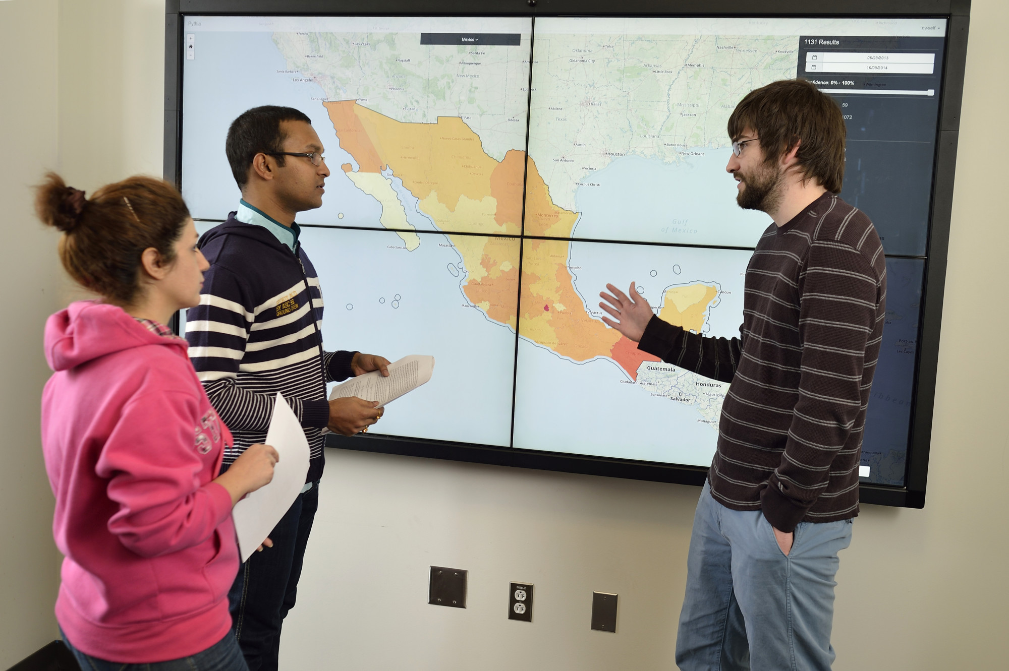Nathan Self, Research Associate, Computer Science, Discovery Analytics Center, working with students