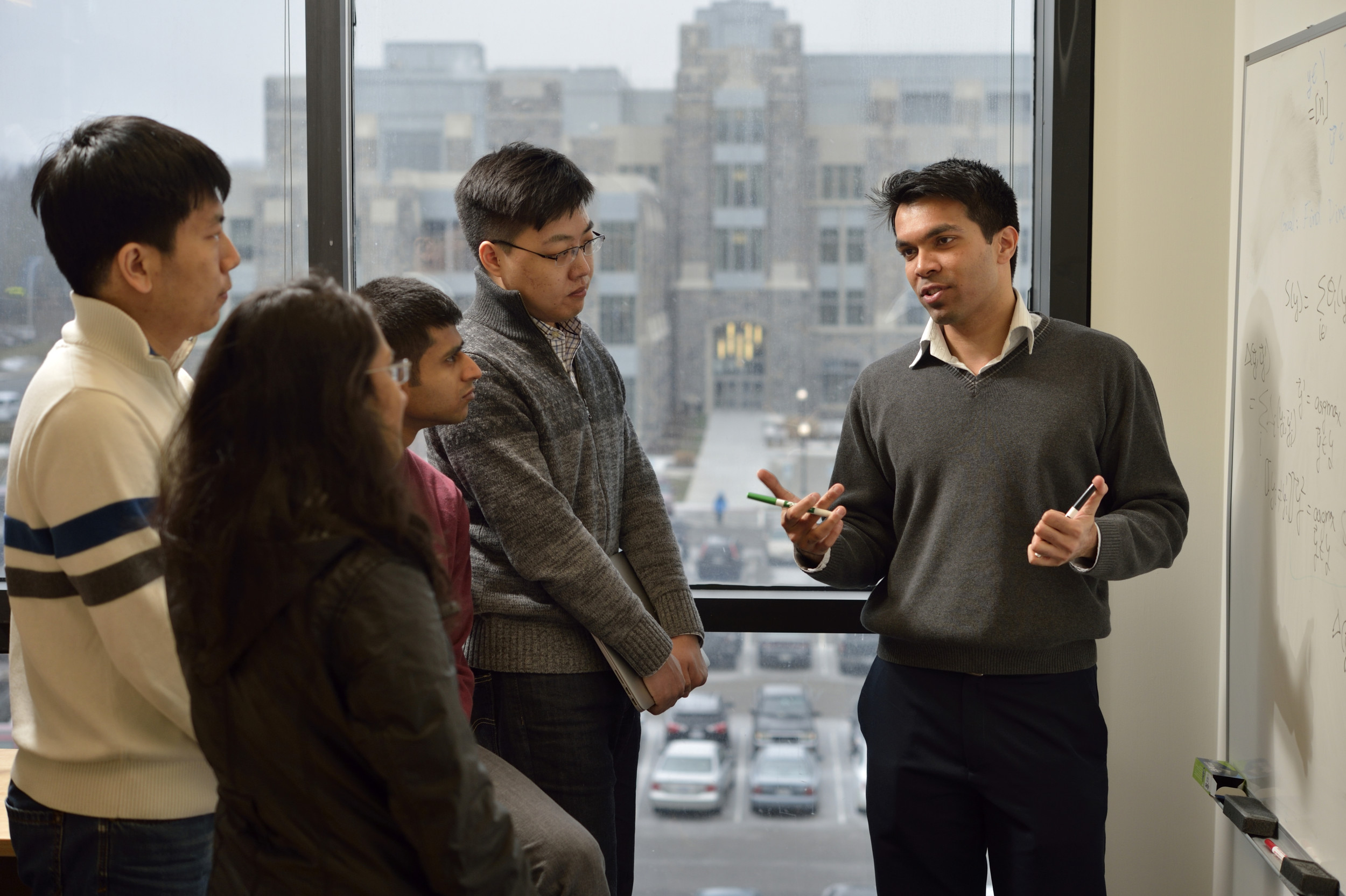 Dhruv Batra, Assistant Professor, Electrical and Computer Engineering, ECE, Discovery Analytics Center, students, classroom