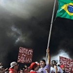 One of the many protests against the 2014 World Cup in Sao Paulo, May 15, 2014.
